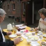 Frühstück im Freien - bei schönem Wetter