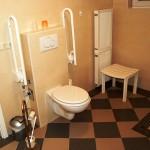 Behindertenfreundliches WC mit Dusche